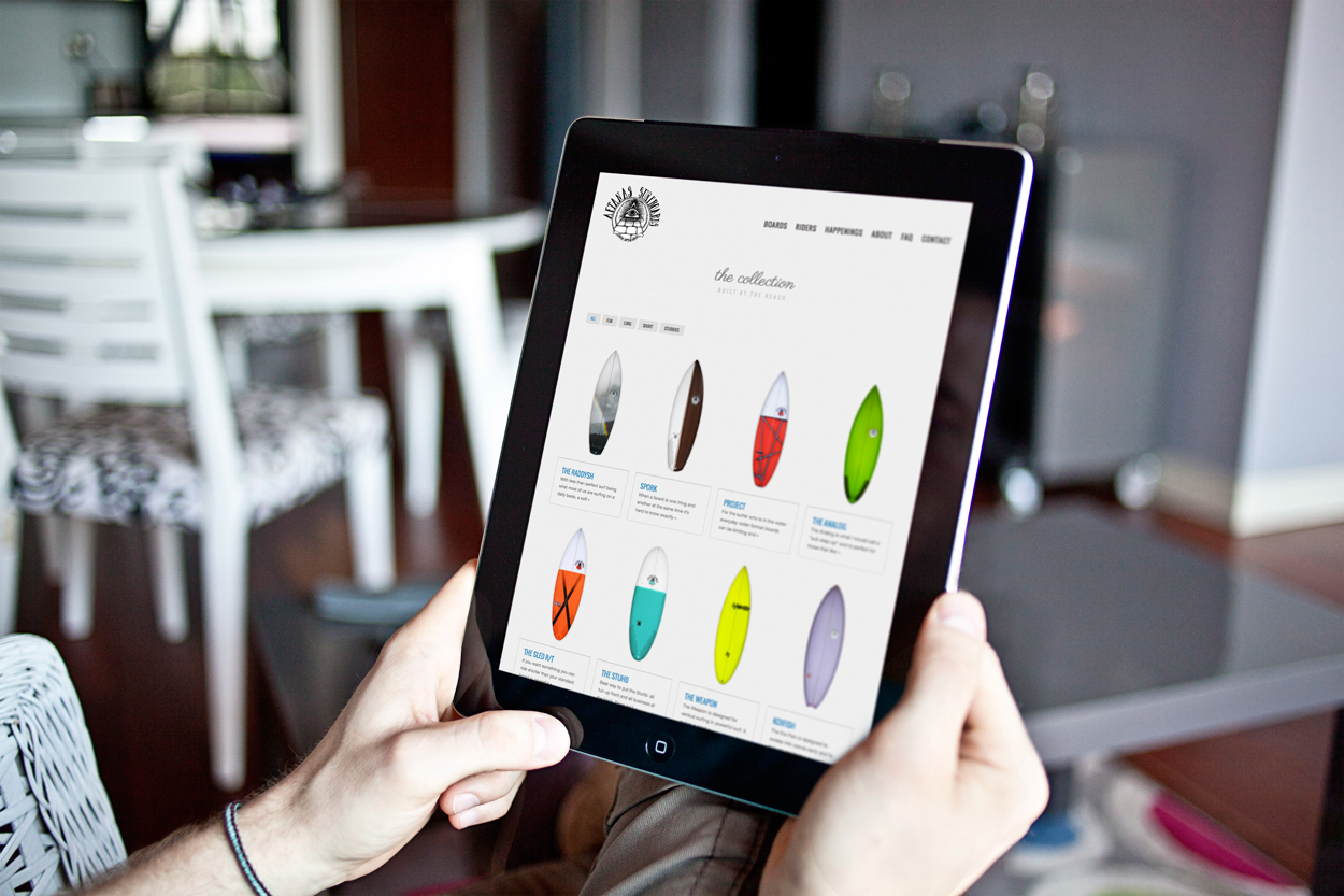 Aftanas Surfboards | Board section/Tablet View